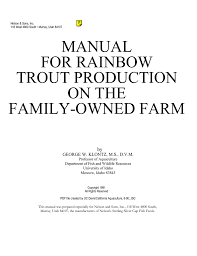 Unionized Ammonia Chart Manual For Rainbow Trout Production On The Manualzz Com