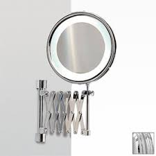 wall mounted makeup mirror. Get Quotations · NameeksWindisch Chrome Brass Magnifying Wall-Mounted Vanity Mirror With Ligh Wall Mounted Makeup