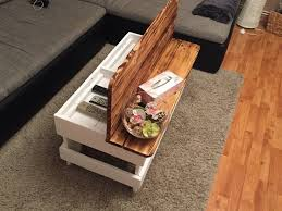 pallet wood coffee table with storage