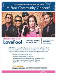 children hospital flyers community invited to uc davis childrens hospitals free summer concert