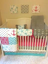pink and aqua crib bedding aqua and pink baby room pink aqua and gray anchors nautical baby girl crib bedding a aqua and pink baby