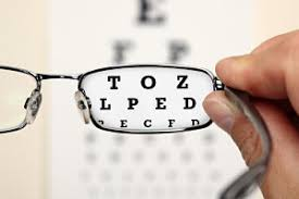 optometrist exam corrective lens and caid