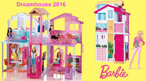 barbie dreamhouse 2016 3 story townhouse unboxing and full house tour with barbie dolls
