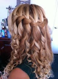 Hairstyle Waterfall curly waterfall braid hairstyle 2013 hairstyles weekly 3885 by stevesalt.us
