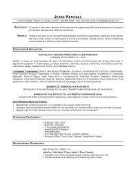Resume For Mechanical Engg Mechanical Engineering Student Resume Mechanical Engineering Resume