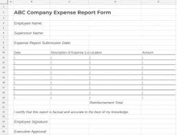 petty cash reimbursement template how to create an expense report policy free template
