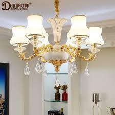 dihao lighting european crystal chandelier luxury living room light modern simple european bedroom lamp zinc alloy atmosphere villa duplex american