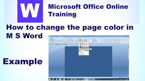 Small Picture How to change the page color in MS Word microsoft office online