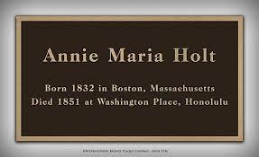 Nutfield Genealogy: Annie Maria Holt (1832 - 1851)