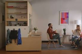 furniture that transforms. Smart Furniture Transforms Spaces In Tiny Apartments Into Bedrooms, Work Spaces, Or Closets That E