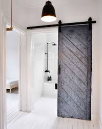 Marvelous Design Of The Modern Barn Doors With White Wall Added With Black  Wooden Sliding Door