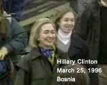Image result for hillary and chelsea landing under fire pictures