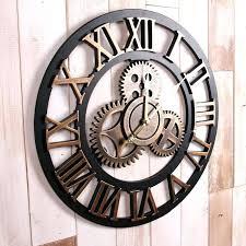 large rustic wall clock rustic wall clock pallet clock large wall clock reclaimed wood