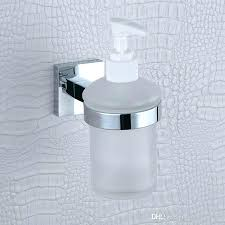 glass soap pump glass liquid soap dispenser pump wall mount hand wash shower detergent shampoo chrome