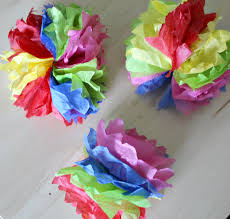 Paper Flower Garlands How To Make Diy Hanging Tissue Paper Flower Garland Our