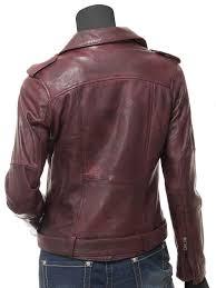 leather womens biker red jacket womens oxblood jacket