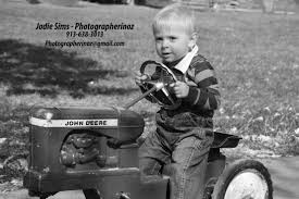 Tractor boy black and White Photograph by Jodie Sims of Overland Park , KS  | Sims, Overland park, Overland park ks