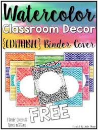 Free Editable Binder Covers And Spines Free Editable Binder Covers And Other Watercolor Classroom