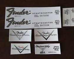 <b>vintage</b> 65 St Headstock Logo Decals 4 c s | eBay