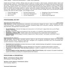 Resume For Architecture Job Project Architect Resume Fungramco 78