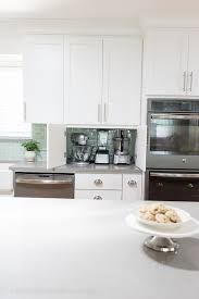 your small appliances on your countertop for easy access but hide them behind cabinets