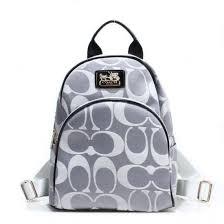 Coach Logo Monogram Small Grey Backpacks 21723