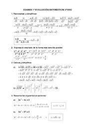 Examen Matemáticas Radicales Y Ecuaciones 4º Eso