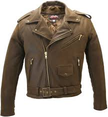 men s classic vintage leather jacket tap to expand