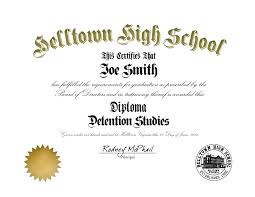 High School Deploma Helltown High School Diploma Helltown High School