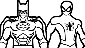 Small Picture Spiderman And Batman Coloring Book Pages Kids Fun Art In For