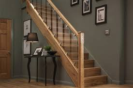elements stair parts with glass panel barade