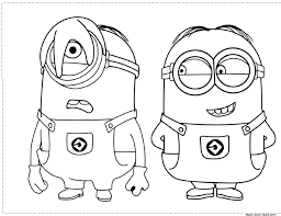 Minion Colouring Pages Pdf Despicable Me Minion Coloring Pages To