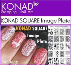 KONAD SQUARE Image Plates for Stamping Nail Art Designs 1 2 3 4 6 ...
