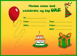 finished birhday invitation exle for 1st birthday