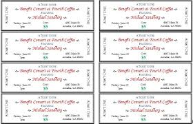 Benefit Ticket Template Generic Event Ticket Templates Formal Word Templates
