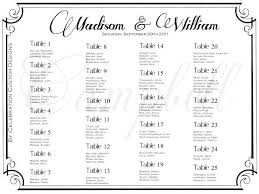 Wedding Seating Chart Template Per Table Top Plan Layout