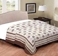 Jaipuri rajai Printed 100% Cotton Filled Quilt Queen Size Indian ... & Image is loading Jaipuri-rajai-Printed-100-Cotton-Filled-Quilt-Queen- Adamdwight.com