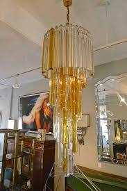 vintage venini spiral chandelier italy 1960