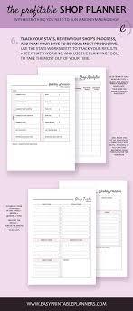 Printable Planner For Etsy Business Planner Digital Etsy