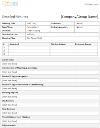 Word Template Minutes Meeting Minutes Template E Commercewordpress