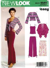 New Look Patterns Unique New Look Pattern Knit Pants Jacket Tank Top Cape Sizes 48148 Sewing