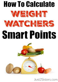 how to calculate weight watchers smart points just2sisters