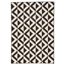 black and white diamond rug. indoor/outdoor geometric diamond rug - ivory/black black and white