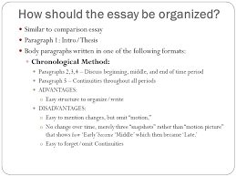 an introduction to the response essay format continuity and how should the essay be organized