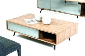 coffee table large modern designer square walnut with black glass 71e tables