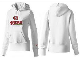 Free With Cheap Offer Francisco White Price Authentic Women's Real Hoodie Logo And Pullover Shipping 49ers San
