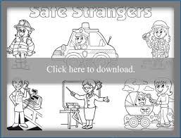 Stranger Safety Coloring Sheet Lovetoknow
