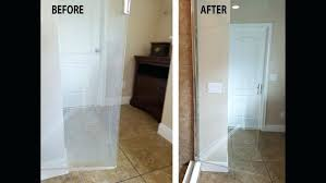 remove hard water stains from glass glass door how to remove hard water stains from tub