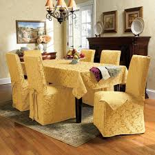 Dining Chair Cover Dining Chairs Covers Sure Fit Cotton Duck Shorty Dining Chair