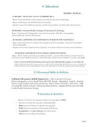 Medical Technology Example Sample Resume For Medical Technologist Download Resume Objective
